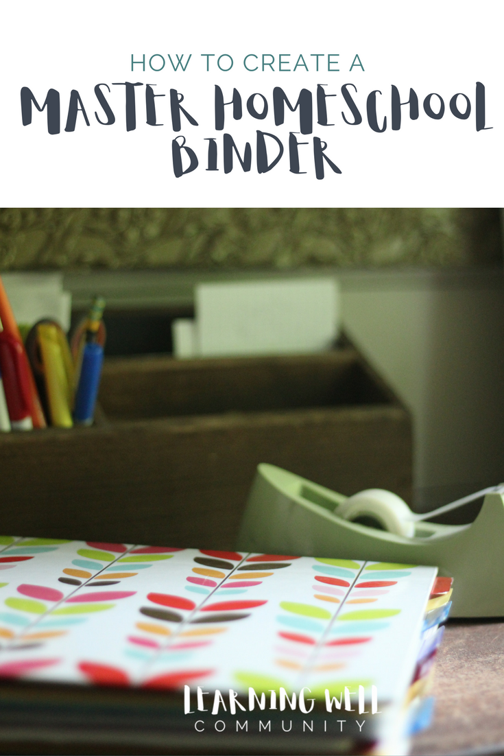 Need a way to organize all important homeschool papers? Here's how to create a master homeschool binder.
