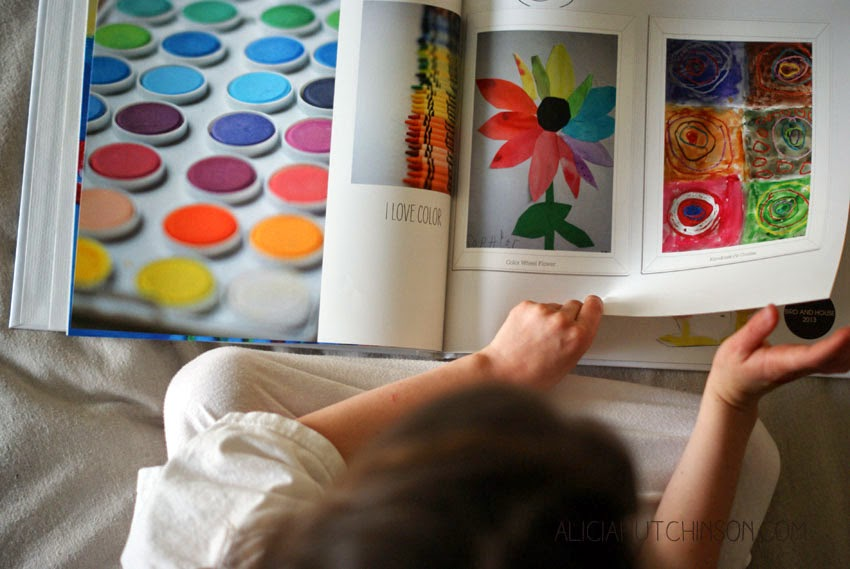 How to make a family yearbook with your family photos and kids art.
