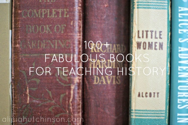 Over 100 books for teaching homeschool history to your elementary kids.