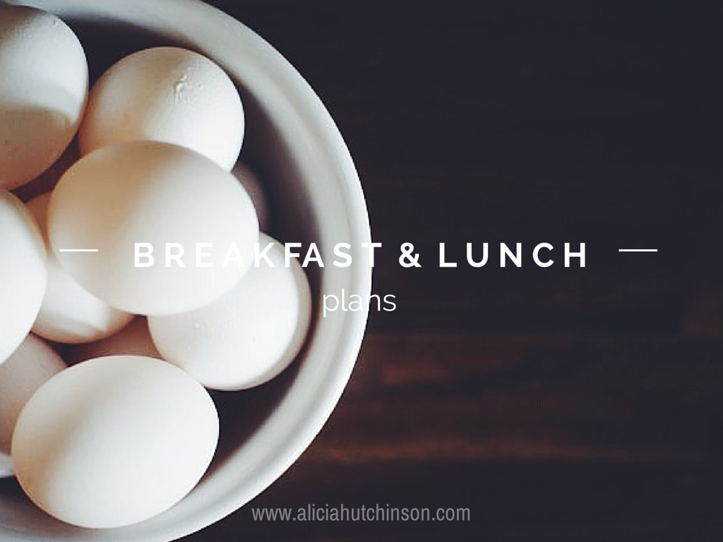 breakfast and lunch