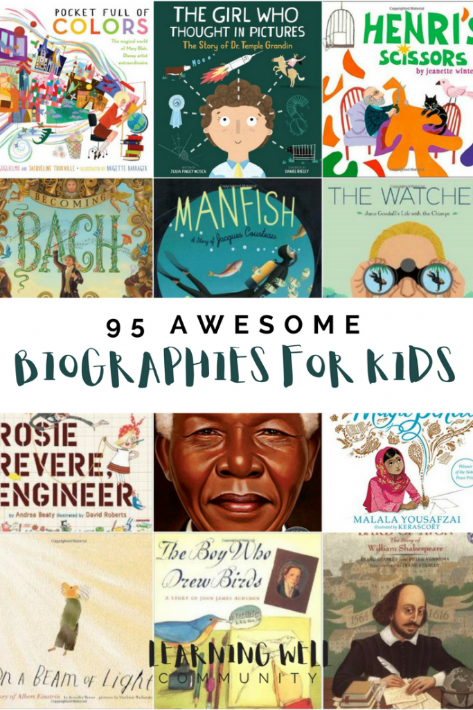 I love biographies for kids and I feel that they've come a long way in the last several years from the dry, boring books they used to be. This post is a huge list of categorized biographies for kids that you will love!