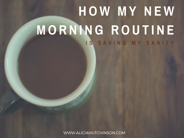 Change only happens when you CHANGE something. Here's how I changed my morning routine and saved my sanity.