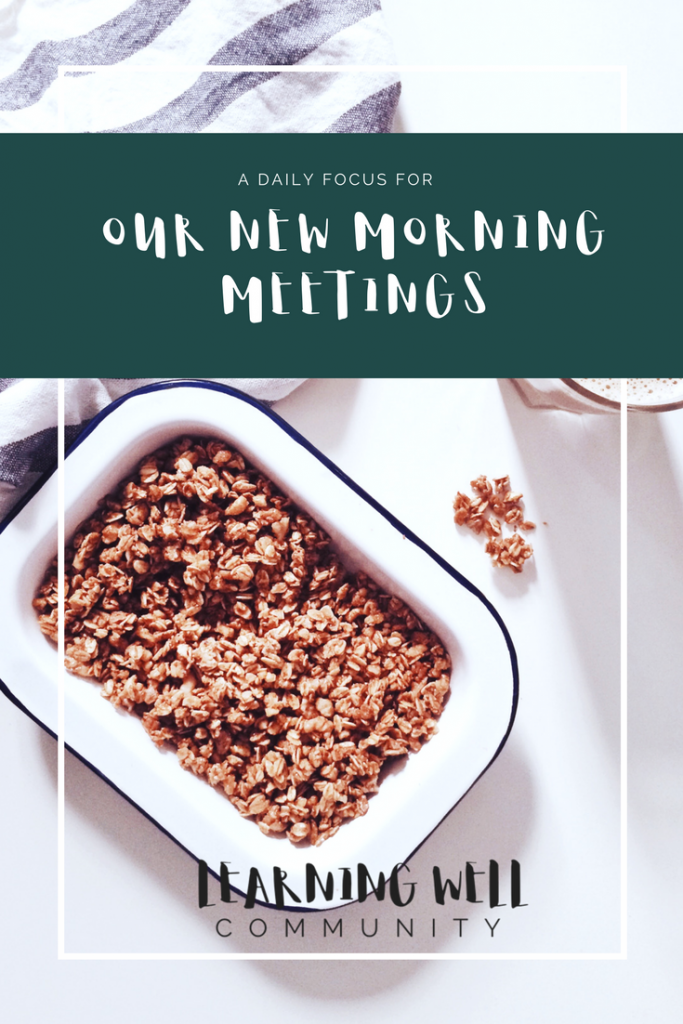 Morning meeting this year was dragging and not very fun. At all. We needed to shake things up. We decided to have a different focus for each day of the week. Morning meeting has been revived and here's how we made it happen.