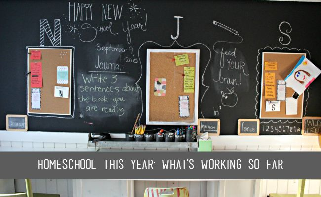 Here's what's working in our homeschool so far this year.