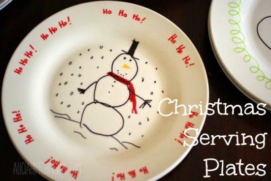 christmas serving plates kids can make