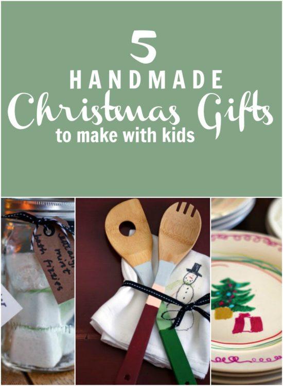 Handmade Christmas Gifts to make with kids