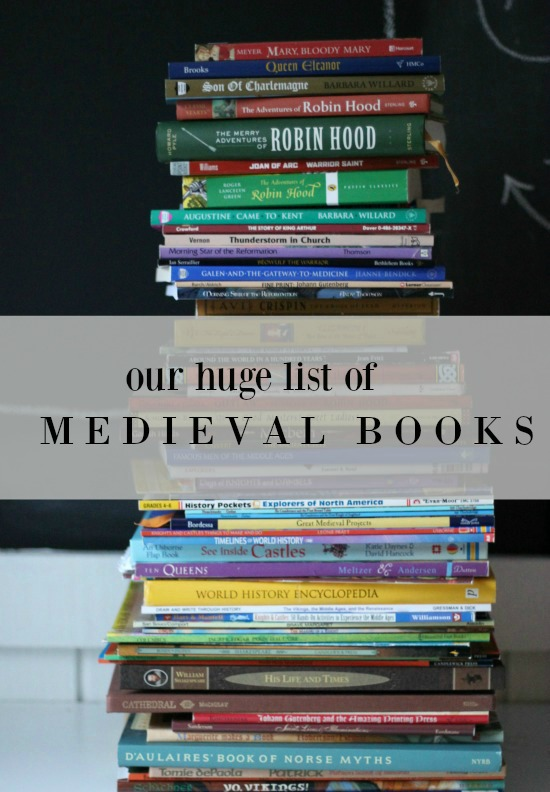 If you need a great resource for Middle Ages books, you've come to the right place. Here's a HUGE list of books for your Medieval Ages studies. Enjoy!