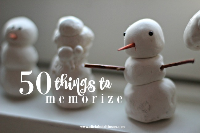 Working on memorization with your kids doesn't have to be a tedious chore. Here's a big list of fun things to memorize with your kids of all ages.