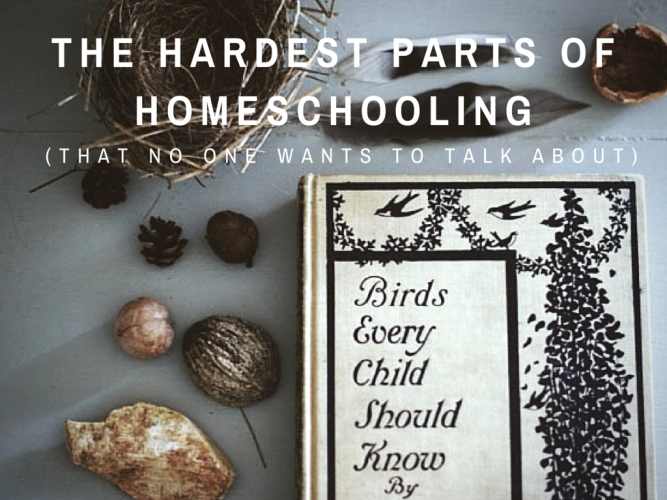 Homeschooling is a road less traveled. Sometimes we overlook the hardest parts of homeschooling, just to prove we're confident in our decision. It's ok though. We mamas have doubts and worries no matter what. Here's the hardest parts of homeschooling no one wants to talk about.