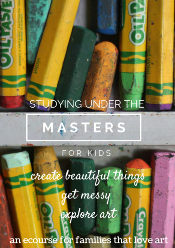 Studying art under the masters for kids!