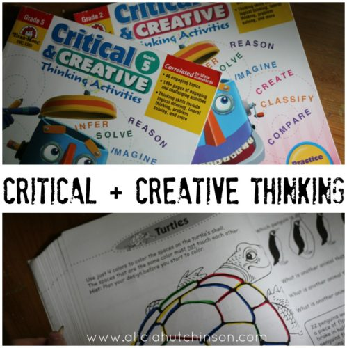 Critical and Creative Thinking activity books are perfect for squeezing in a TON of helpful skills in just a little bit of time. Here's my full review.