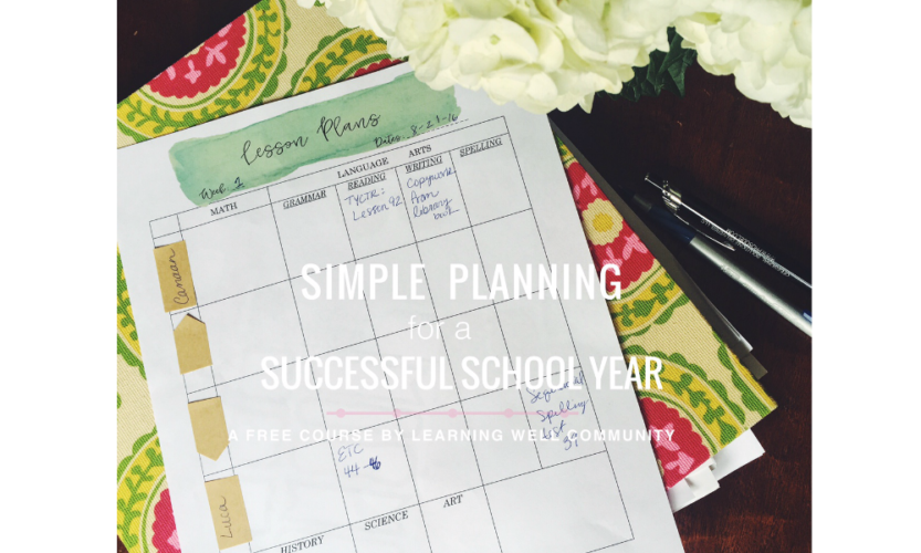 Free homeschool planning course