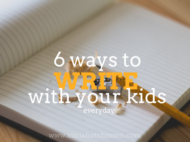 How to write with your kids each and every day without crying or fighting about it!