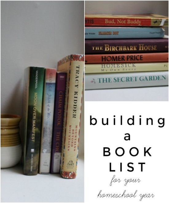 "Building a book list for your homeschool year--my ""rules"" and tips on how to create an awesome book list."