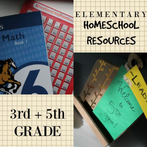 Homeschool resources for elementary grades 3 and 5