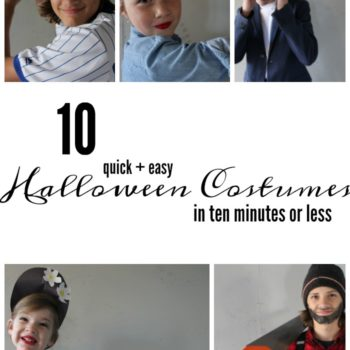 Need some quick and easy halloween costume ideas? Here's ten you can create in ten minutes or less!