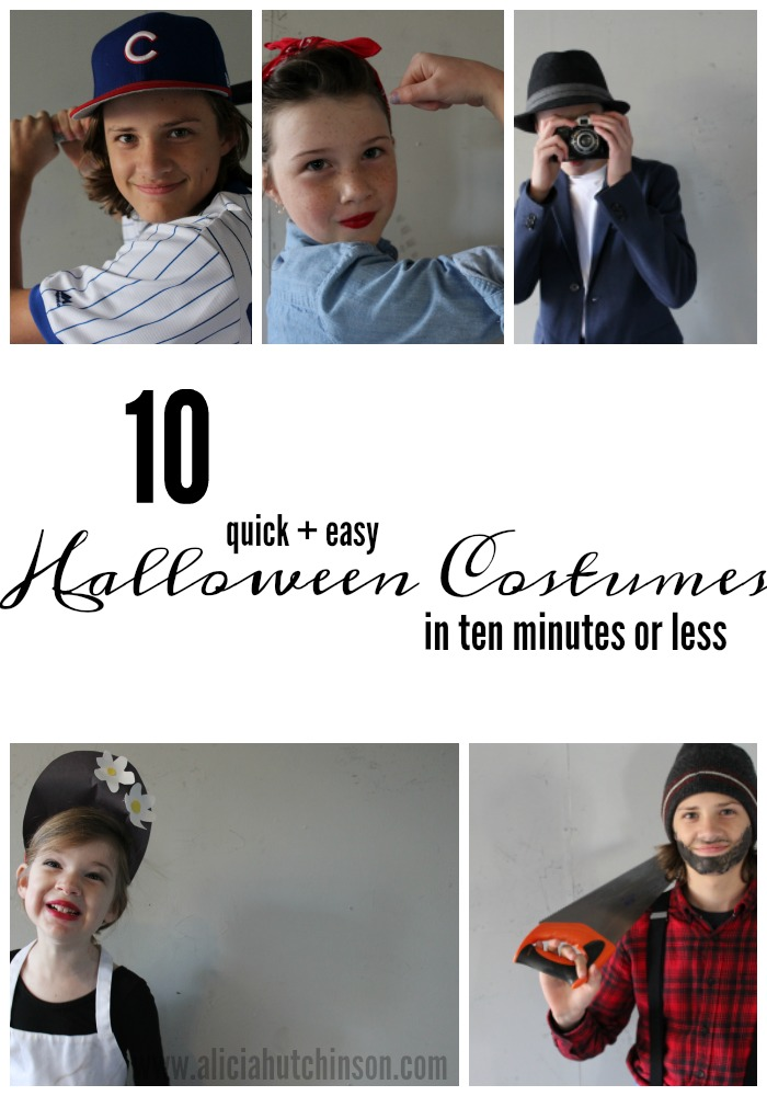 10 Easy Halloween Costumes In 10 Minutes Or Less Living Well Learning Well