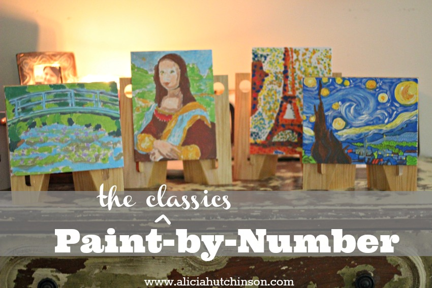 Need an easy art project for your kids? Try these amazing kits--Paint by number, famous paintings series.