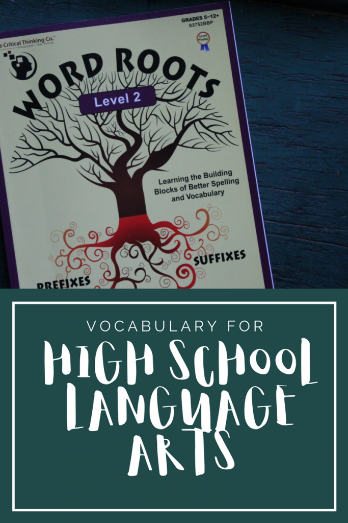 Our high school language arts was missing vocabulary. Word Roots 2 has been the answer for us. Here's our review.