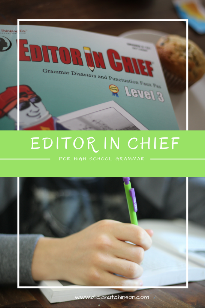 Editor in Chief workbooks for your high schooler