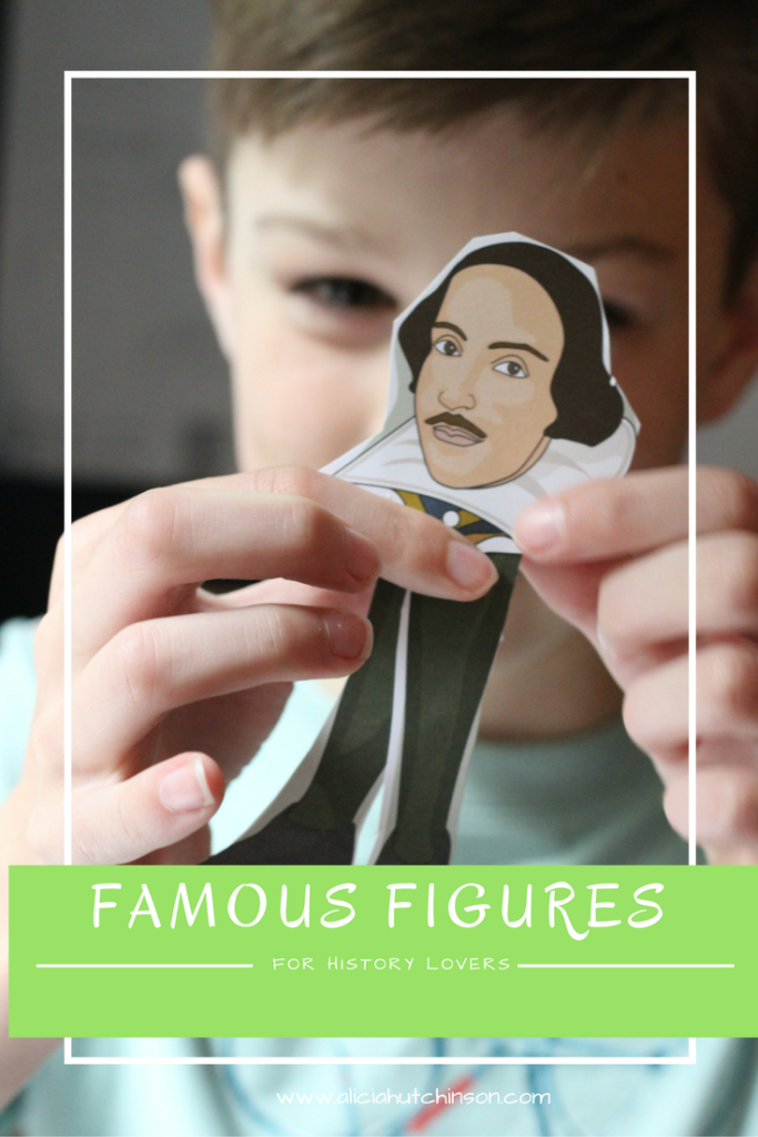 Famous Figure historical puppets for kids who love art and history.