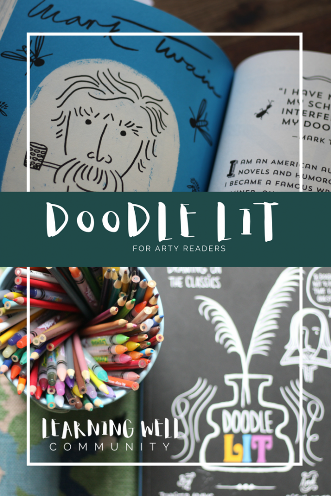 Doodle literature for your lit loving art kids.