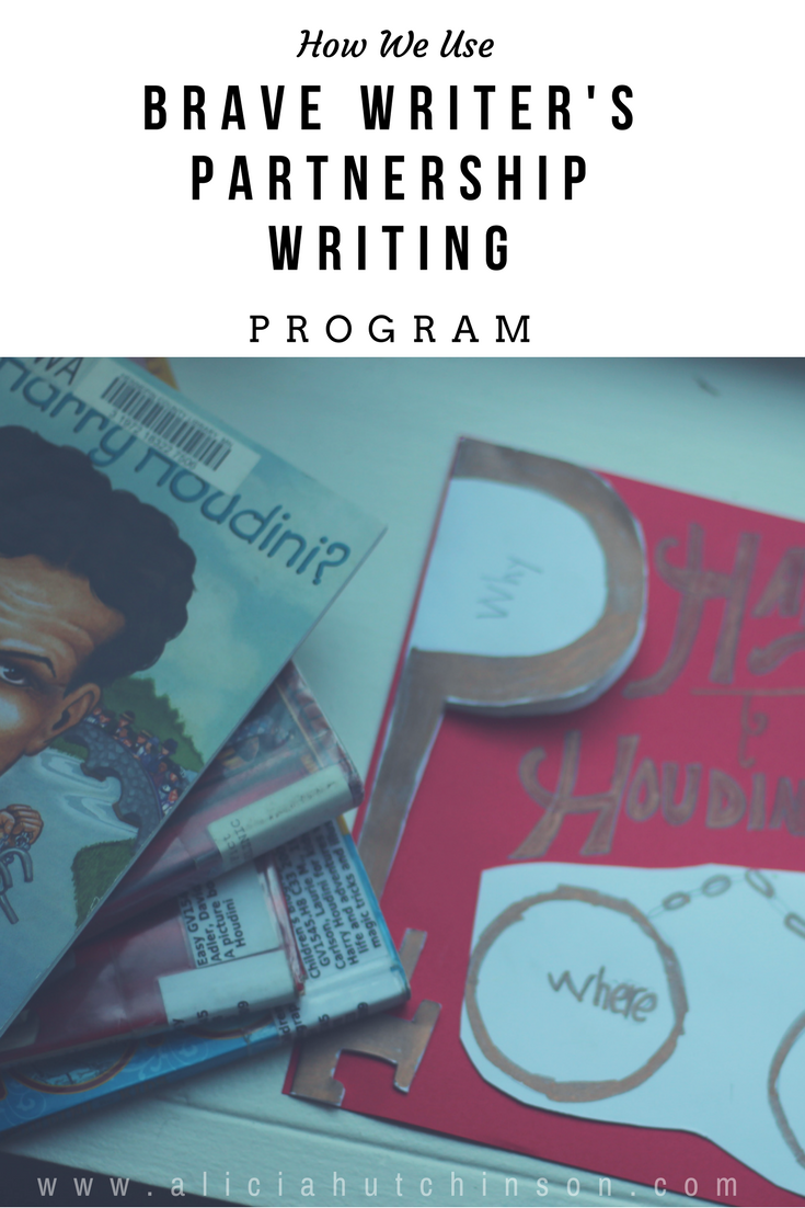 How we use Brave Writer's Partnership Writing program.