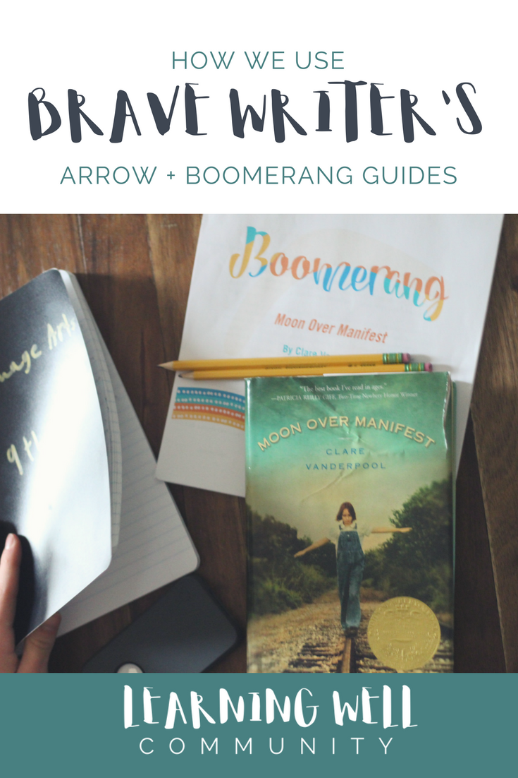 A full review and how this Brave Writer family uses the Arrow and Boomerang guides.