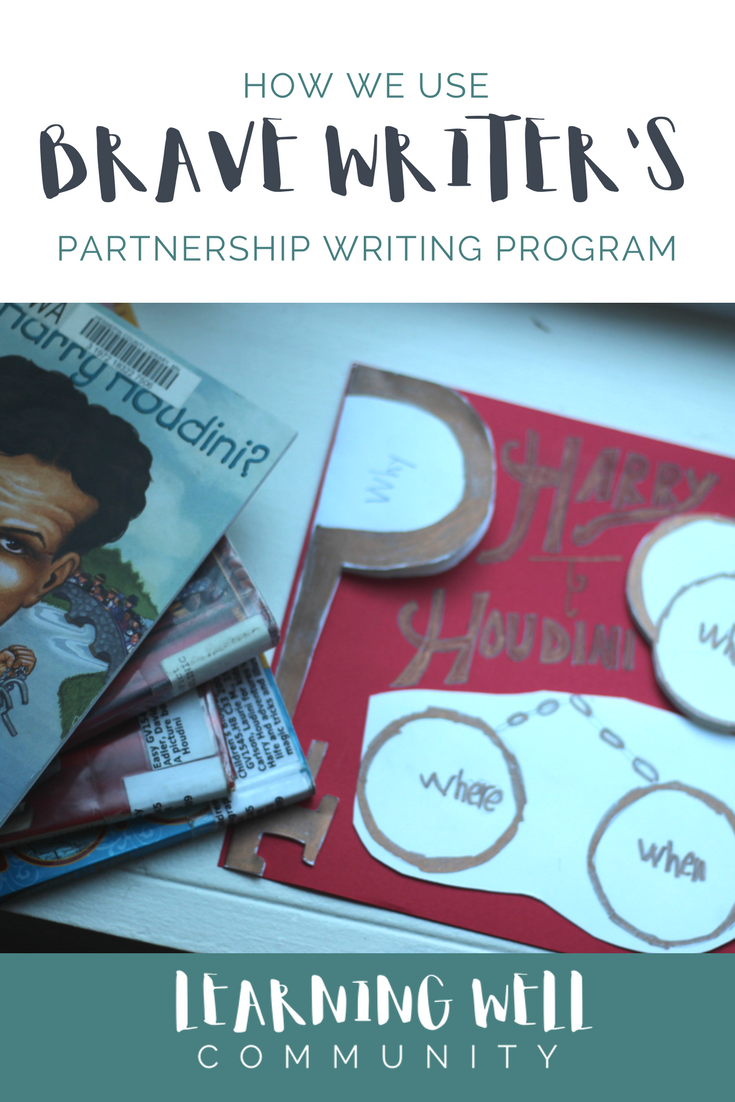 How this Brave Writer family uses the Partnership Writing program.