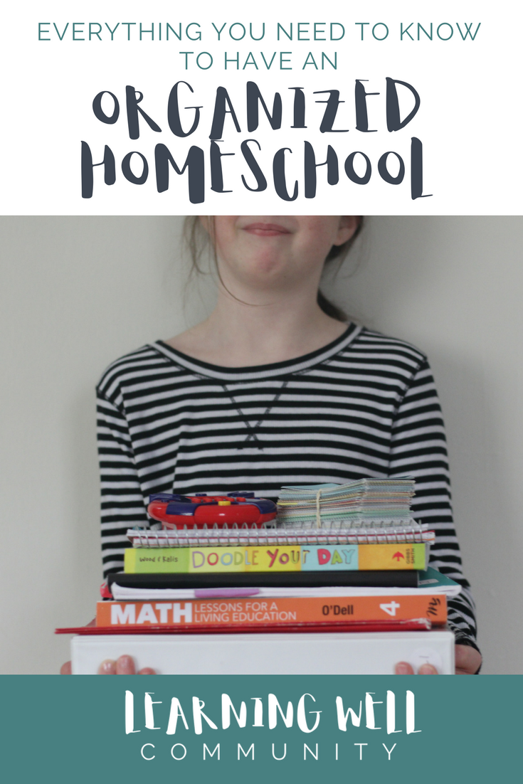 We all want an organized homeschool and this post is PACKED with everything you need to know to get your homeschool organized!