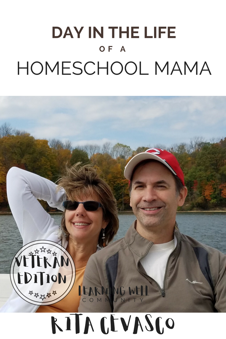A veteran homeschool mama's day in the life. Meet Rita Cevasco of Rooted in Language. Her wisdom for homeschool mamas is priceless.