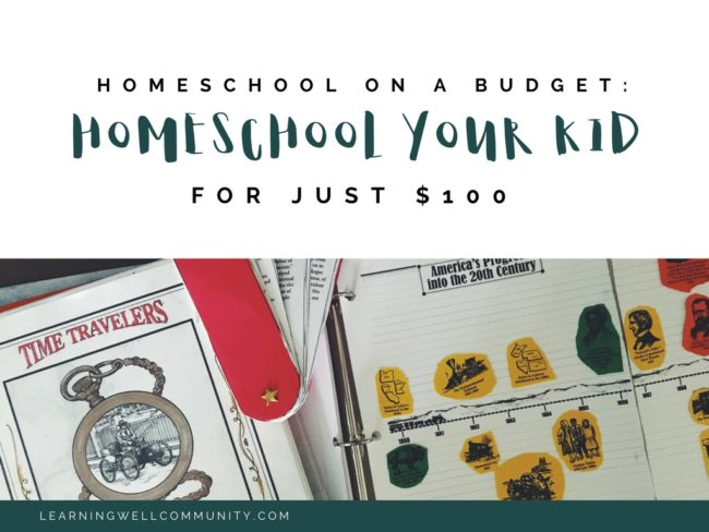 Sticking to a homeschool budget can be hard. This post is about a homeschool budget of just 100 dollars and a solid plan with a curriculum list of HOW to do it!