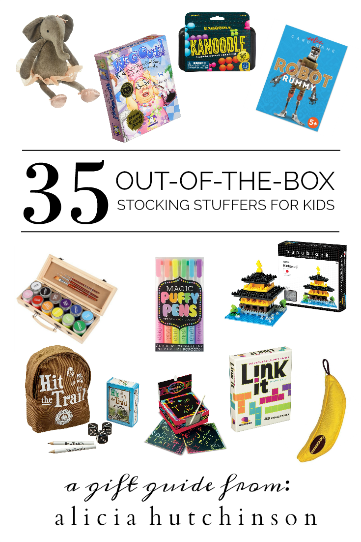 This is the only post you need for unique stocking stuffers for kids. Shop the list of 35 out-of-the-box ideas for your kiddos!