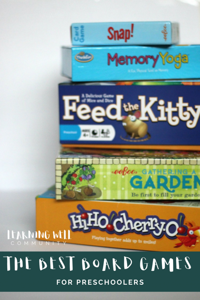 "Board games for preschoolers has never been high on by ""to buy"" list. I tend to be a bit on the impatient side, BUT we've recently found some board games for preschoolers that are TOO GOOD not to share! If you have a preschooler at home and you want to keep them busy while you're schooling with the big kids. Read this."