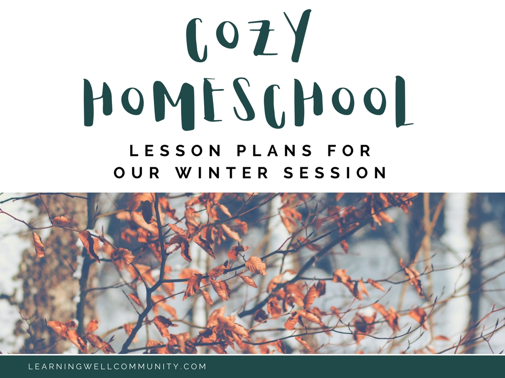 Returning to homeschool after a long Christmas break can feel very blah. Here's a rundown of all our winter homeschool lesson plans to inspire your winter session!