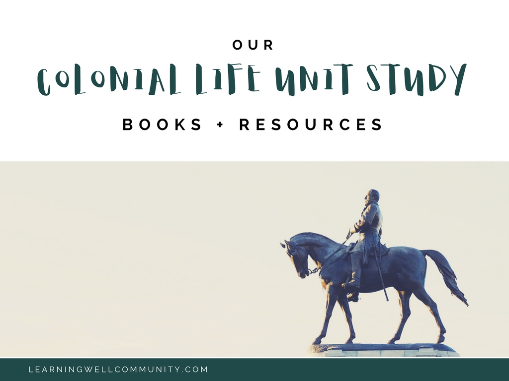 There's a ton of great colonial life books and resources to choose from, but I took the guess work and searching out for you. Here's a list of all our favorite colonial life books.