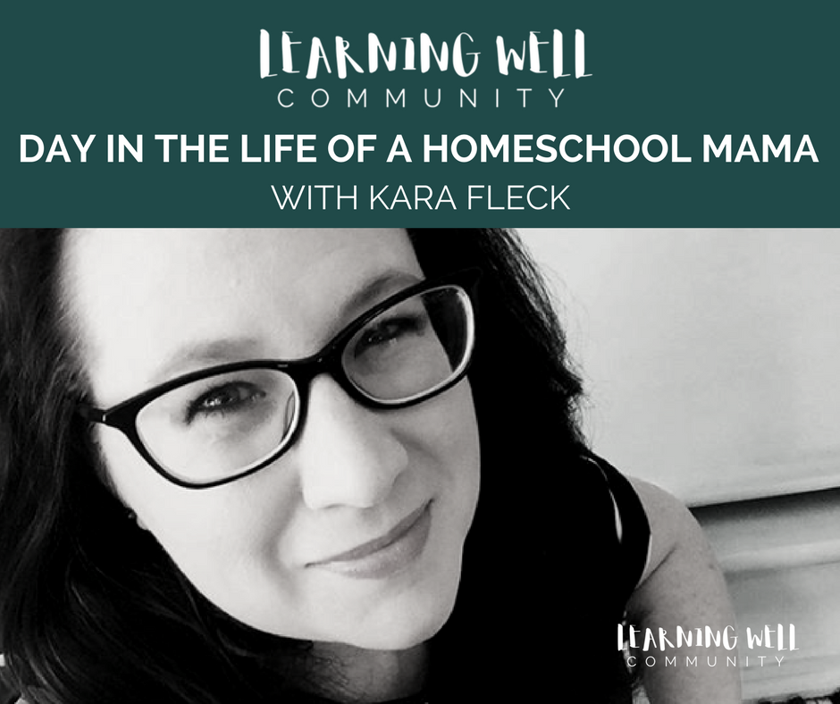 Peeking inside another homeschool mama's day in the life can give the best feeling of solidarity. This post features day in the life of homeschool mama Kara Fleck and what this all looks like in her home. Enjoy!