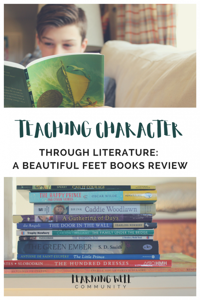 Ever wondered how you can easily teach character in your homeschool? The answer is with literature...beautiful literature! This is my Beautiful Feet Books review on teaching character in your homeschool. I think you're going to love this one!