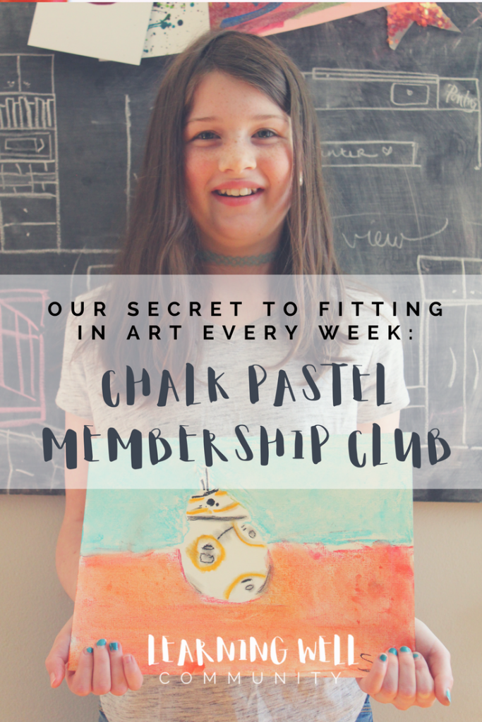 Chalk Pastel Membership Club is going to make fitting art into your homeschool day even easier. This post will show you how!