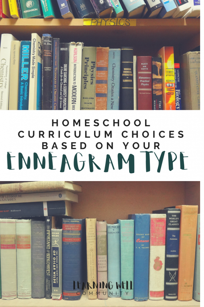 Having a hard time choosing homeschool curriculum? Here's some homeschool curriculum choices based on your enneagram type.
