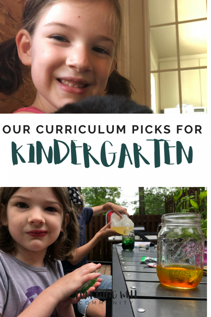 My baby is entering our homeschool kindergarten. As much as I've tried to ignore it, she is! Here's our homeschool kindergarten curriculum choices.