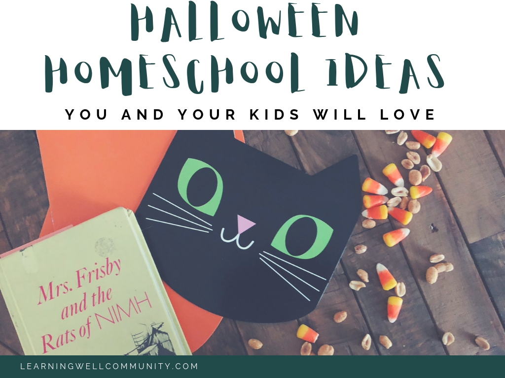 Here's a post with TON of Halloween homeschool ideas to have a great post-celebration! Books, games, math, science, and more!
