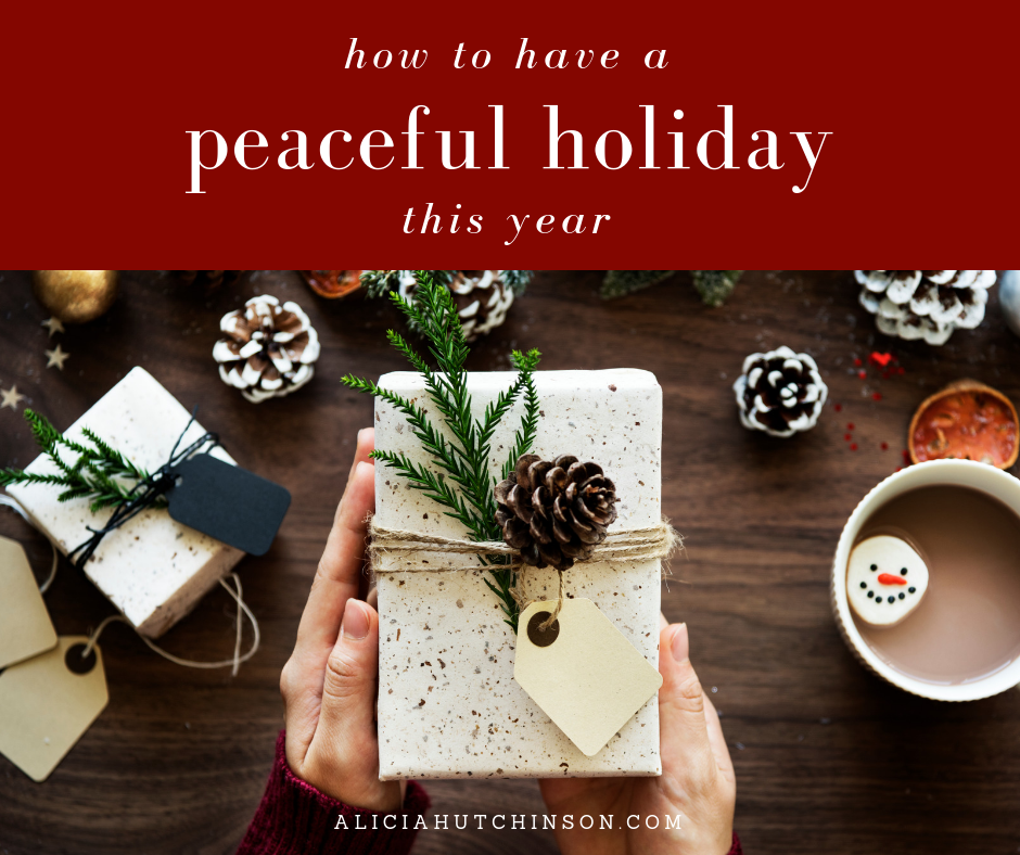 The Christmas season is much too short to spend it stressed out. Here are 12 easy ways you can implement to have a more peaceful holiday this year.