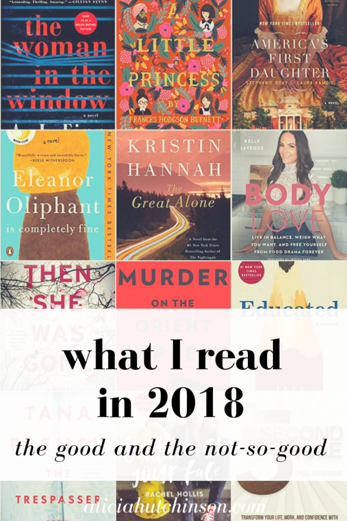 2018 was a great year for readers and here's my list of books of 2018 and my thoughts on them too...the good and the not-so-good.
