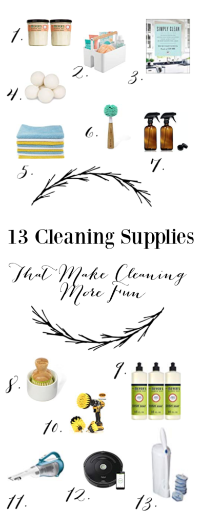 Cleaning is essential, even though many people can't stand it. I'm conviced with the right cleaning supplies, even cleaning can be fun. Here's my favorites!
