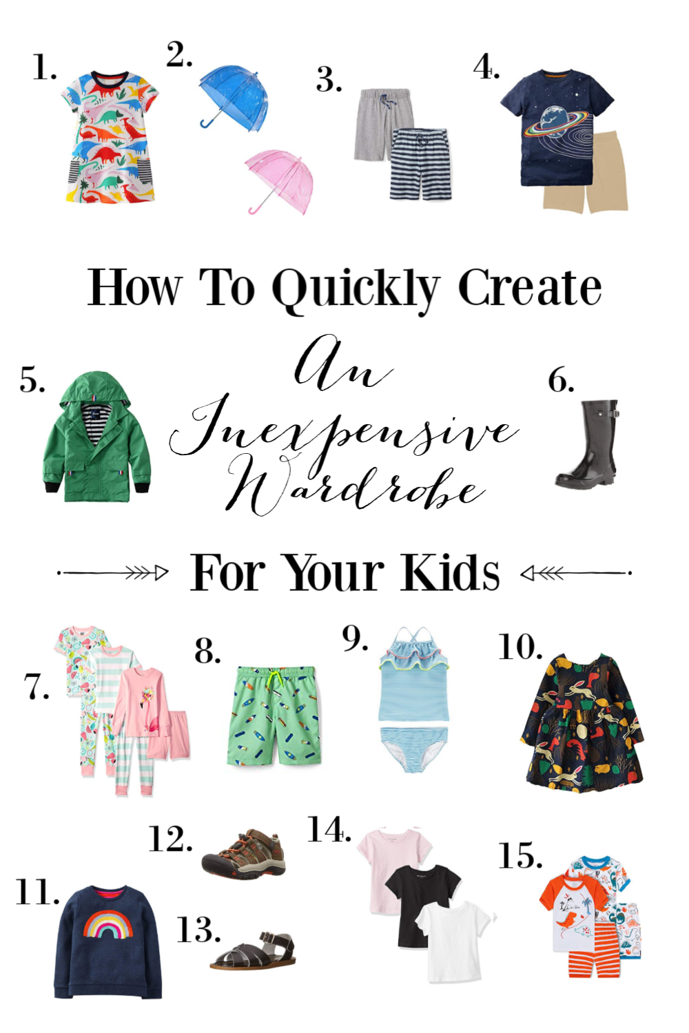 With growing kids, the change of season requires an update in their clothing. Sound expensive? I'll show you how to create an inexpensive wardrobe for kids.