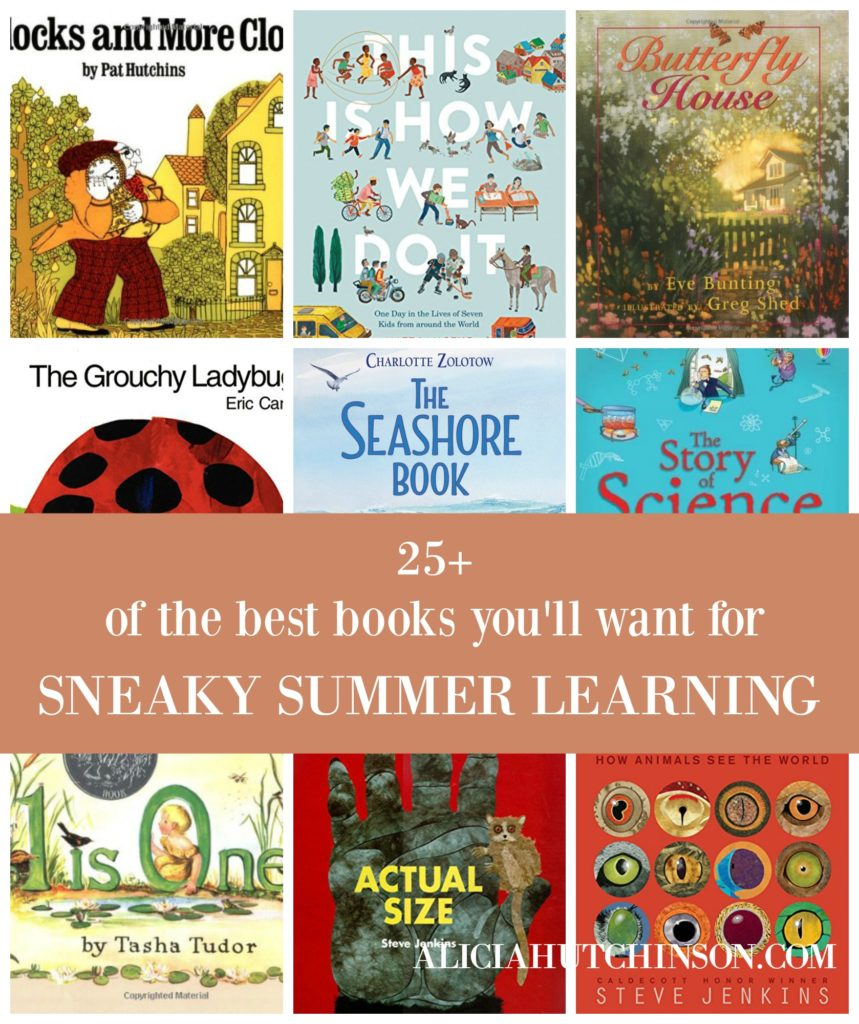 Summer is awesome! But we don't want our kids to forget what they learned in school this year. Here's 25+ books to help with Sneaky Summer Learning!