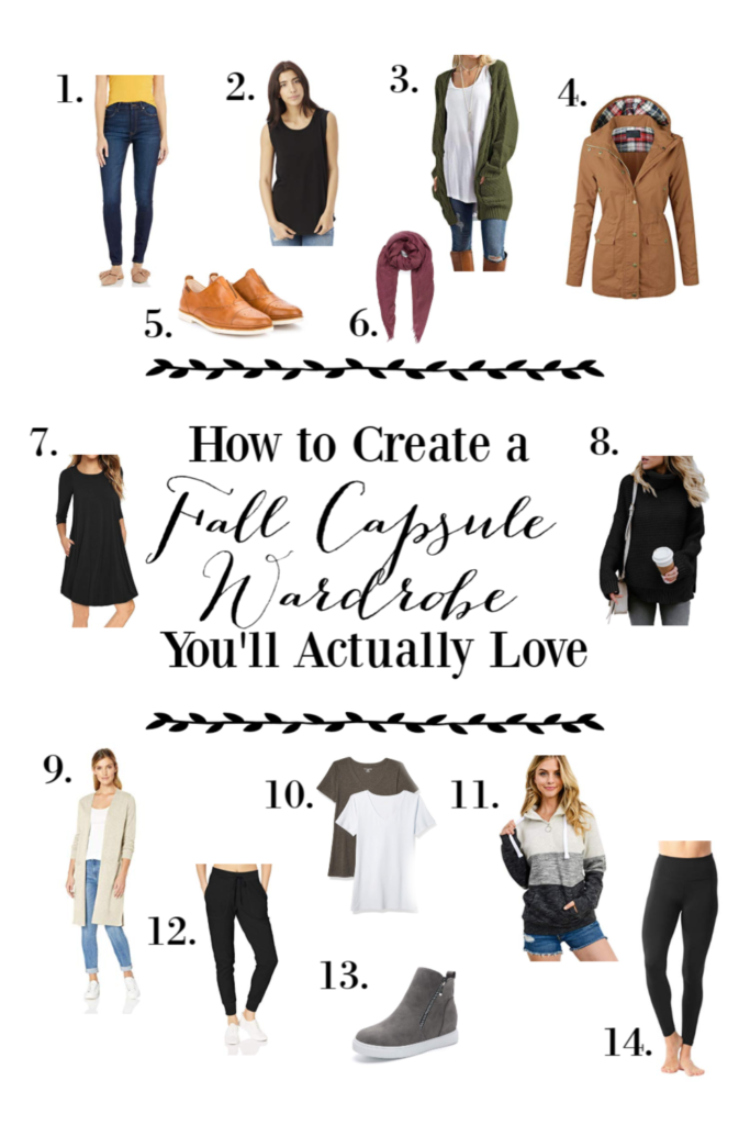As a mom, shopping for clothes can be tricky. BUT here's a perfect fall capsule wardrobe moms will love to wear all season long!
