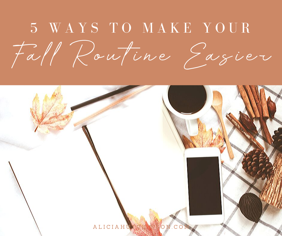 Jumping into a new fall routine can be hard. I'm breaking down why it's so hard to settle into a fall routine and seven ways to make it easier.
