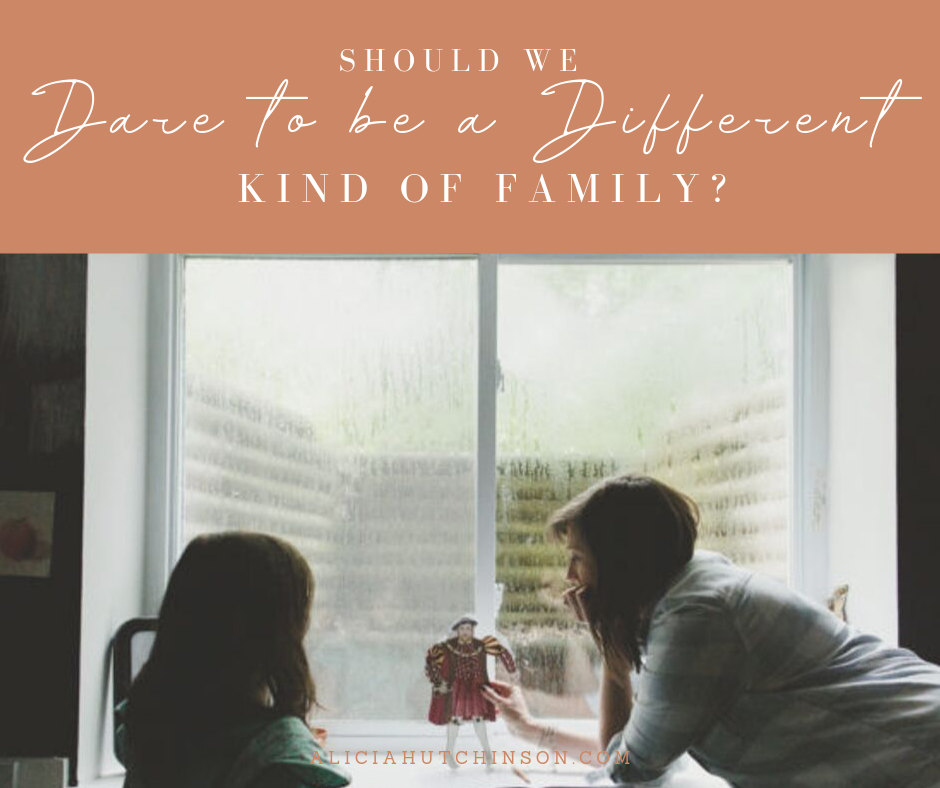 We can't slow down the pace of the world, but we can slow our own pace and run our own race. Let's talk about daring to be a different kind of family.